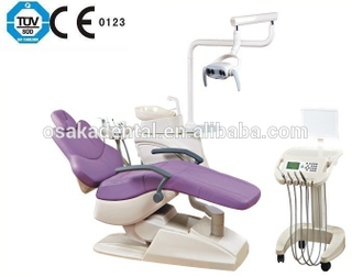 high quality Dental Unit dental chair with dentist stool with moving cart