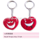 heart shape key chain /without teeth /dental accessories/dental cultural products/oral dental accessories
