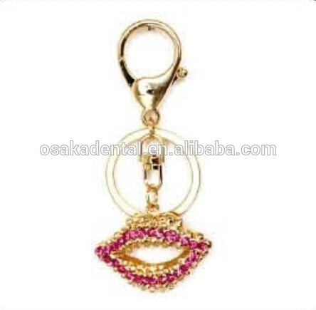 Lip shade key chain/lovers key chains/dental decoration/dental gifts/dental cultural products