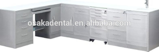 Stainless Steel Dental Cabinet medical cabinet with handle type