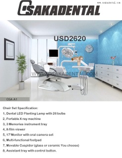 Dental Chair with LED Lamp// Economic Dental Chair