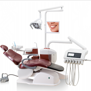 Luxurious Dental Unit with Induction Button Drop Type Instrument Tray