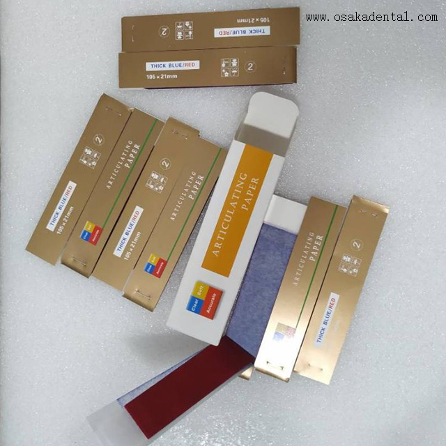 Thick Red and Blue Dental Articulating Paper