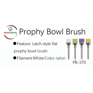 Latch Style Flat Bowl Nylon Prophy Brush PB370