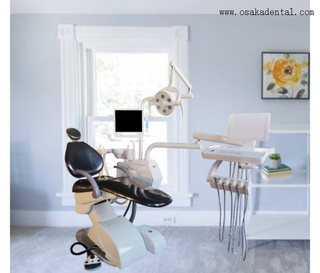 Dental chair with monitor