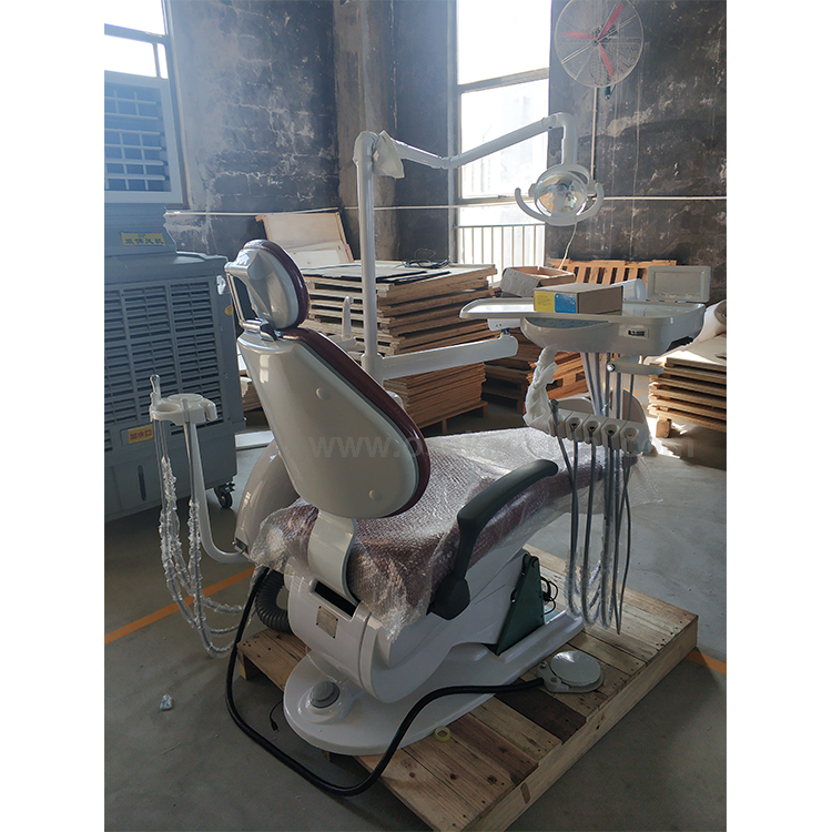 Dental chair with scaler Red color