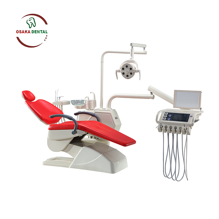 High Level Dental Chair With Bigger Instrument Tray and Multifunction Pedal