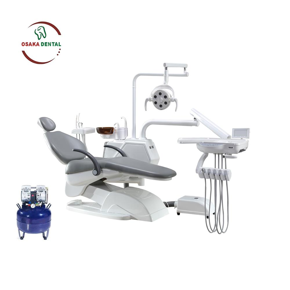 New Design Dental Chair with LED light in Cabinet with Air Compressor